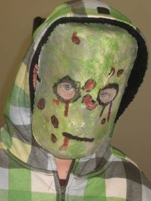 Nicholas Thistle in zombie mask