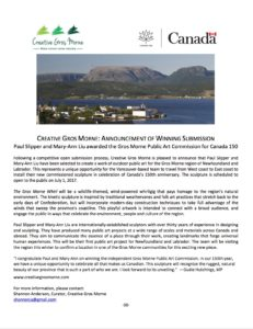 Gros Morne Public Art press release.3Feb2017